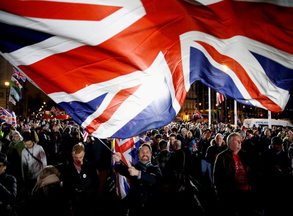 <p>File Image: A British flag waving on Brexit day in London</p>