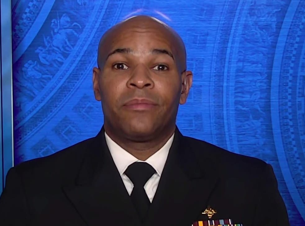 <p>US surgeon general Jerome Adams speaking to Face the Nation on Sunday 20 December</p>