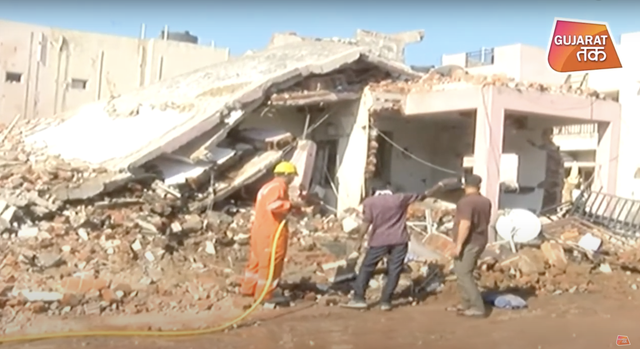 <p>Two houses were destroyed in the explosion</p>
