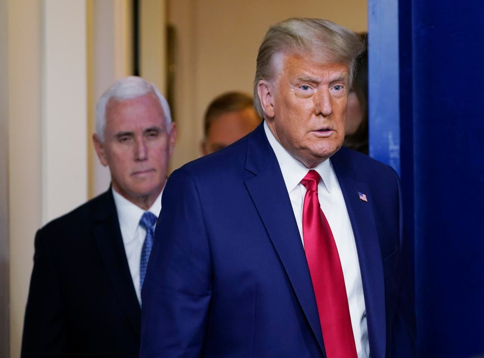 <p>Donald Trump y Mike Pence</p>