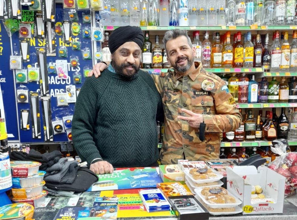 <p>Shop owner Jasbir Singh says he provides a 'vital service' over Xmas&nbsp;</p>