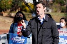 Georgia US Senate race: Ossoff again campaigning in overtime