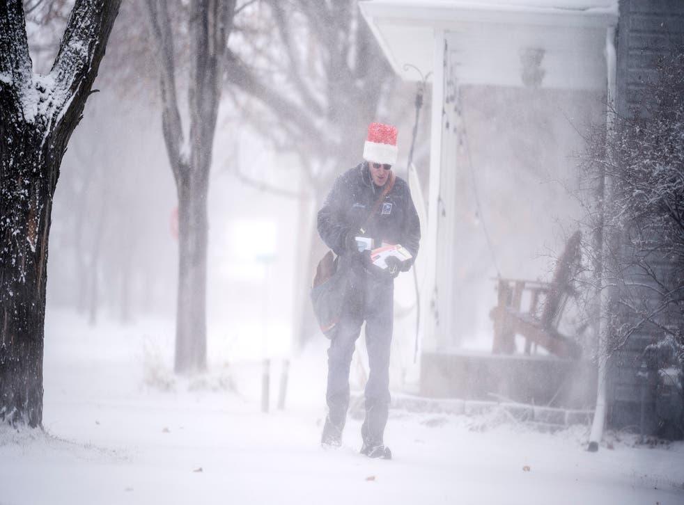 <p>La tormenta invernal en Osseo, Minnesota, el 23 de diciembre del 2020.&nbsp;</p>