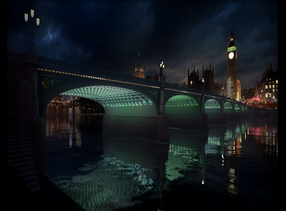 What Westminster Bridge will look like once the lights are installed