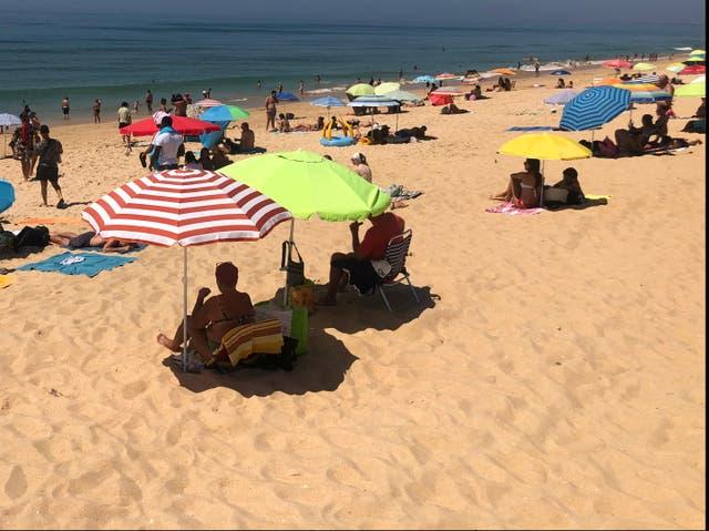 Distant dream: Faro beach in Portugal