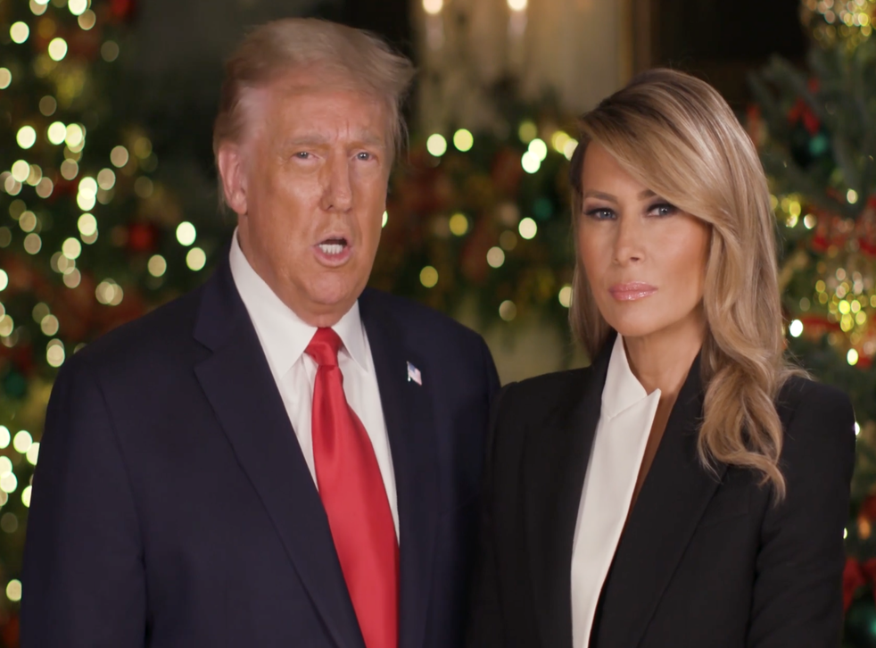 Trump addresses 'terrible pandemic' in Christmas message, then