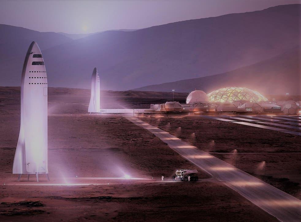 <p>Musk busca enviar a los primeros humanos a Marte en 2024</p>
