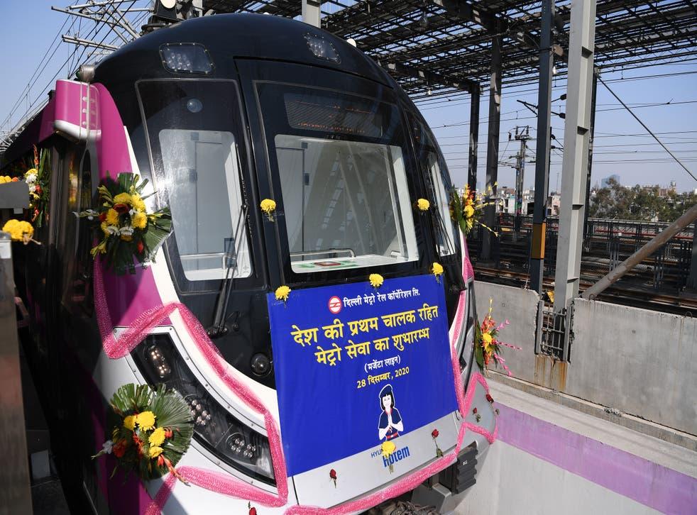 <p>India lanza su primer tren de metro sin conductor</p>
