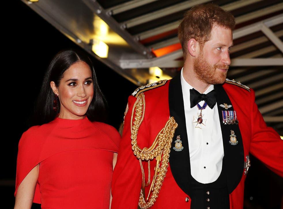<p>El duque y la duquesa de Sussex&nbsp;</p>