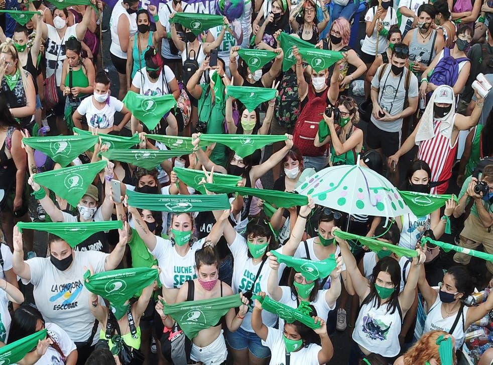 <p>Argentina legaliza el aborto</p>