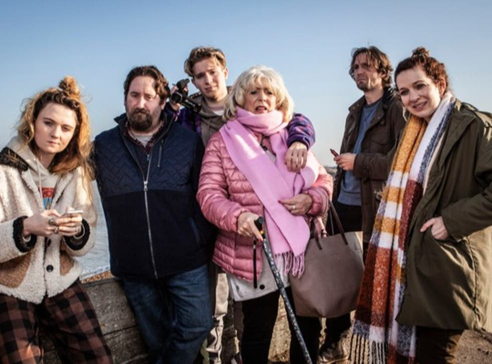 <p>Lockdown in the dumps: the family are forced to swap California for Margate</p>