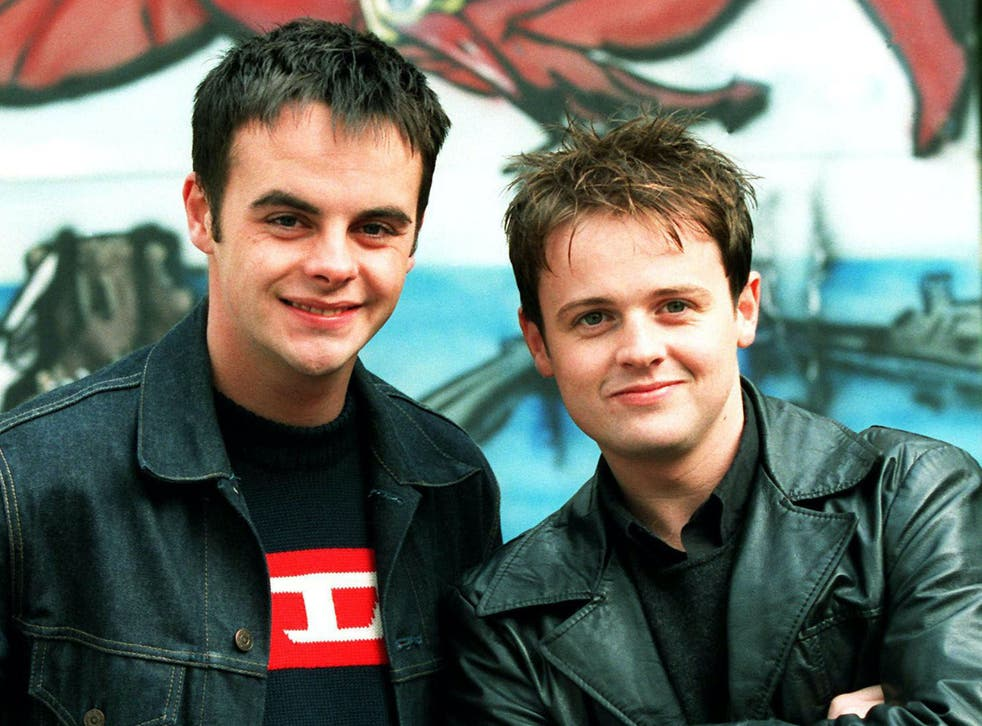 Ant and Dec at the 10th anniversary of Byker Grove in 1998