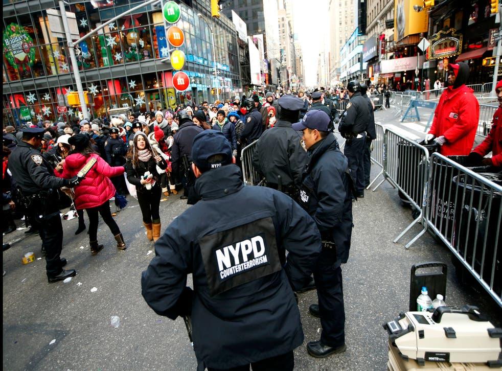 <p>Operativo en Time Square por celebración de fin de año</p>
