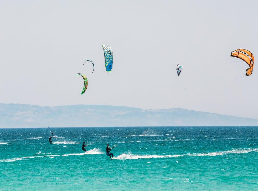 Tarifa is a paradise for kitesurfers