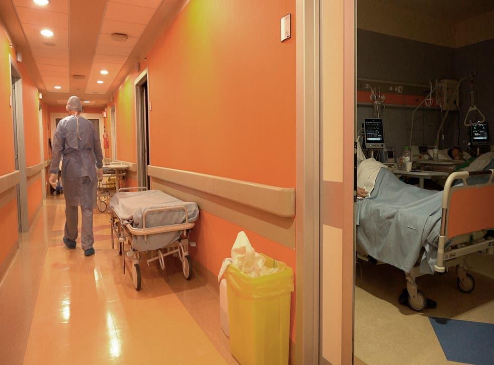 Virus Outbreak Italy Hospital New Year