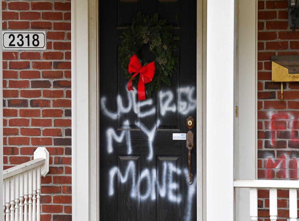 APTOPIX McConnell Vandalism