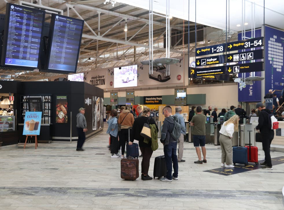 Passengers were held at Gothenburg Landvetter airport