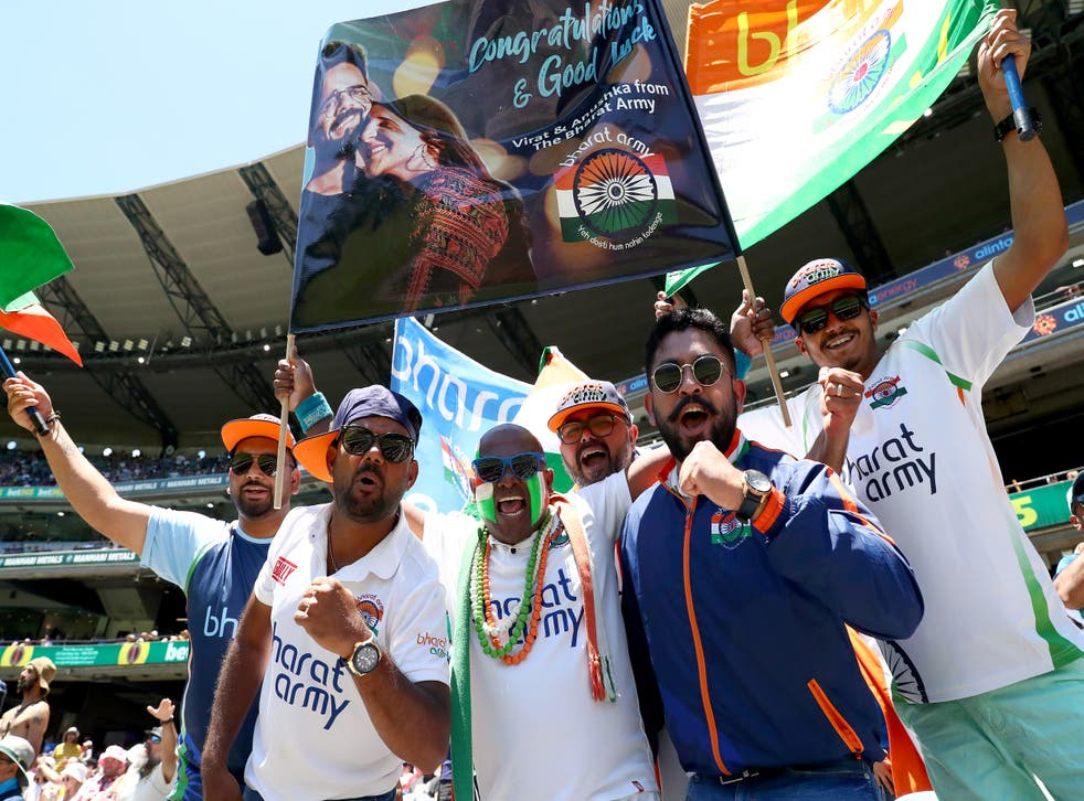 India fans at the second Test in Melbourne