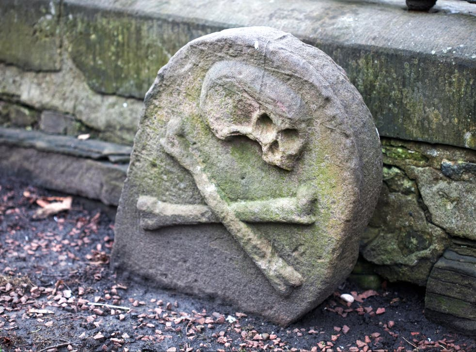 The grave of somebody who died of the Black Death, in Edinburgh, Scotland