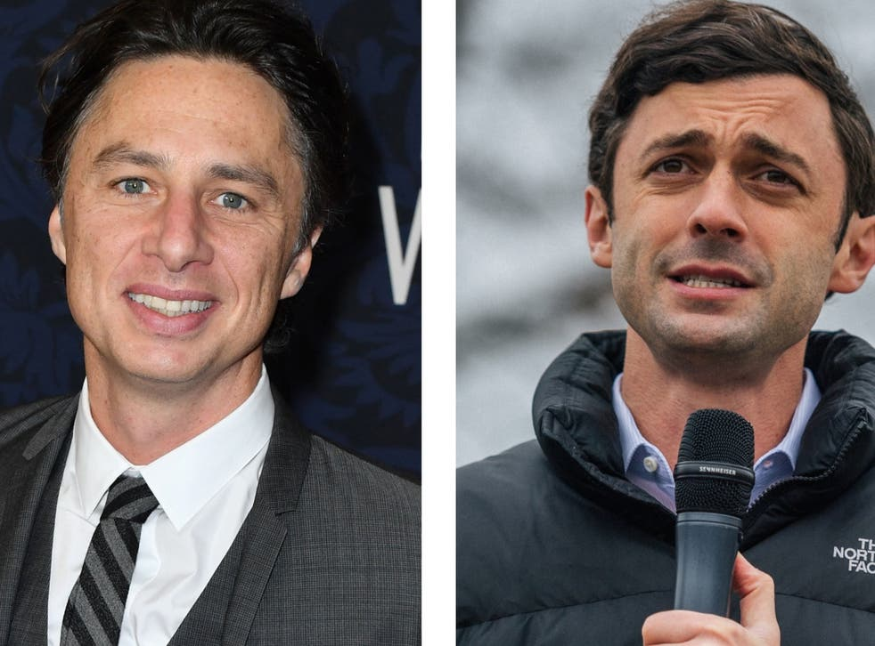 Zach Braff (left) has put himself forward to play Jon Ossoff (right) on SNL
