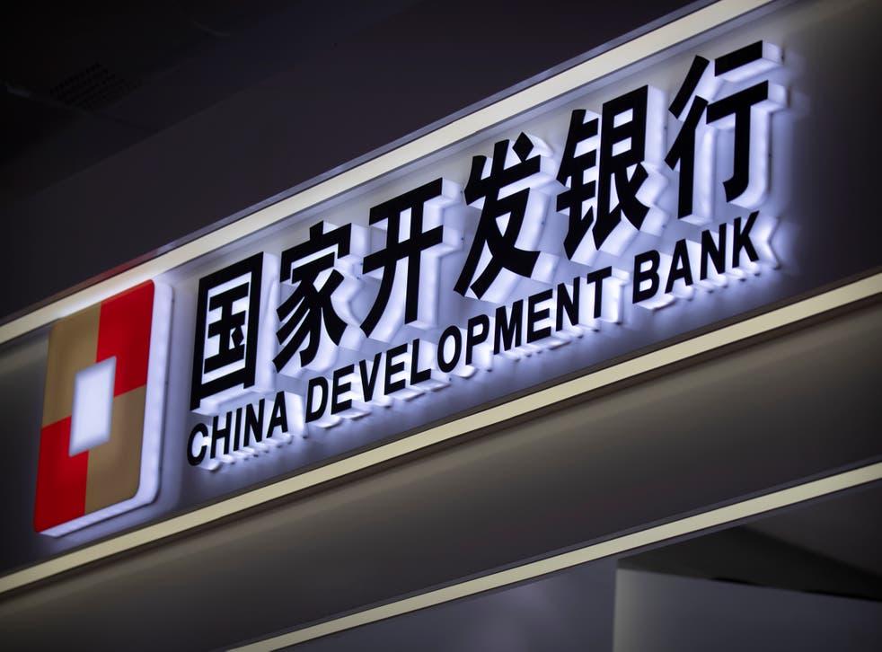 <p>El logo del Banco de Desarrollo de China en un puesto de la feria comercial internacional CIFTIS, en Beijing, el 5 de septiembre de 2020.&nbsp;</p>