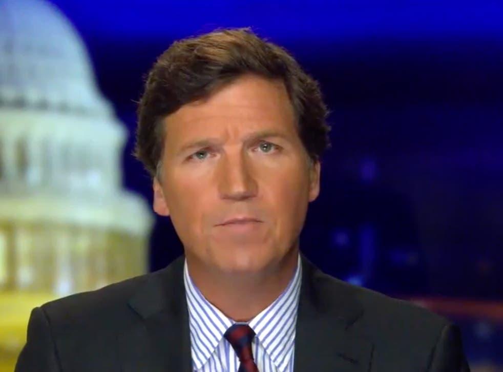 <p>Tucker Carlson hablando durante Tucker Carlson Tonight el jueves 7 de enero de 2020.</p>