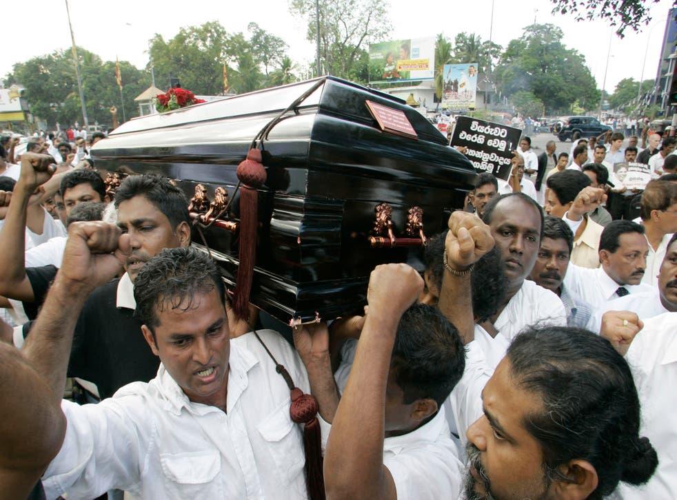Sri Lanka Slain Journalist