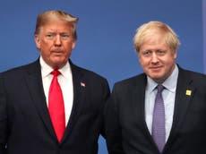Boris Johnson lamentará la forma en que manejó a Donald Trump