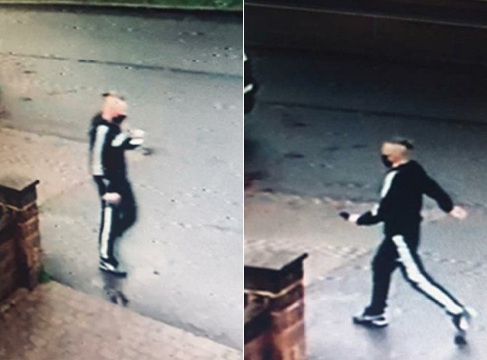 <p>City of London Police are looking to speak with the man pictured above after an elderly woman was given a fake Covid-19 vaccine and charged £160</p>