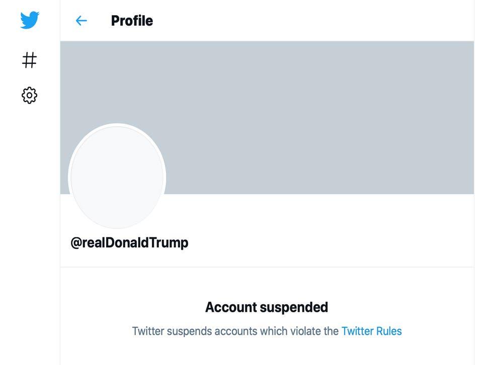 Trump Social Media Bans
