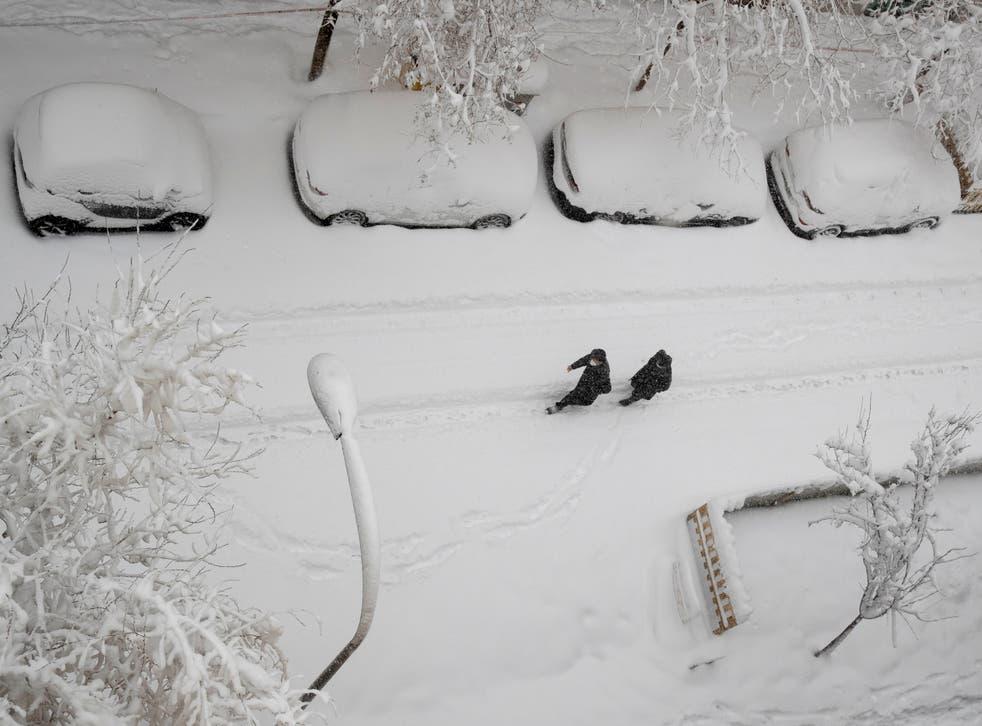 <p>Algunas zonas recibieron hasta 50 centímetros de nieve</p>