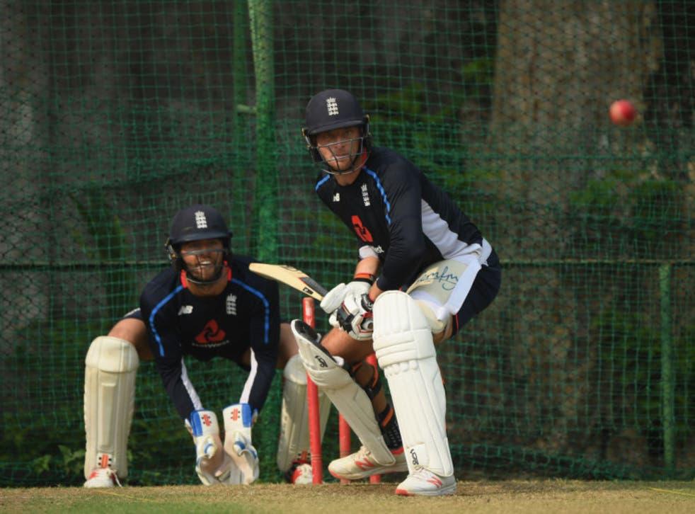 <p>Jos Buttler bats in the nets in Sri Lanka as Ben Foakes keeps wicket</p>