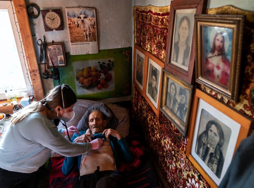 Virus Outbreak Ukraine Village Doctor