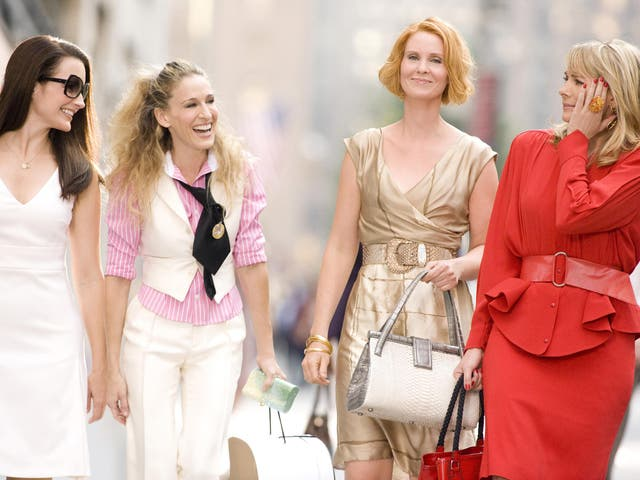Kristin Davis, Sarah Jessica Parker, Cynthia Nixon and Kim Cattrall in the first Sex and the City movie