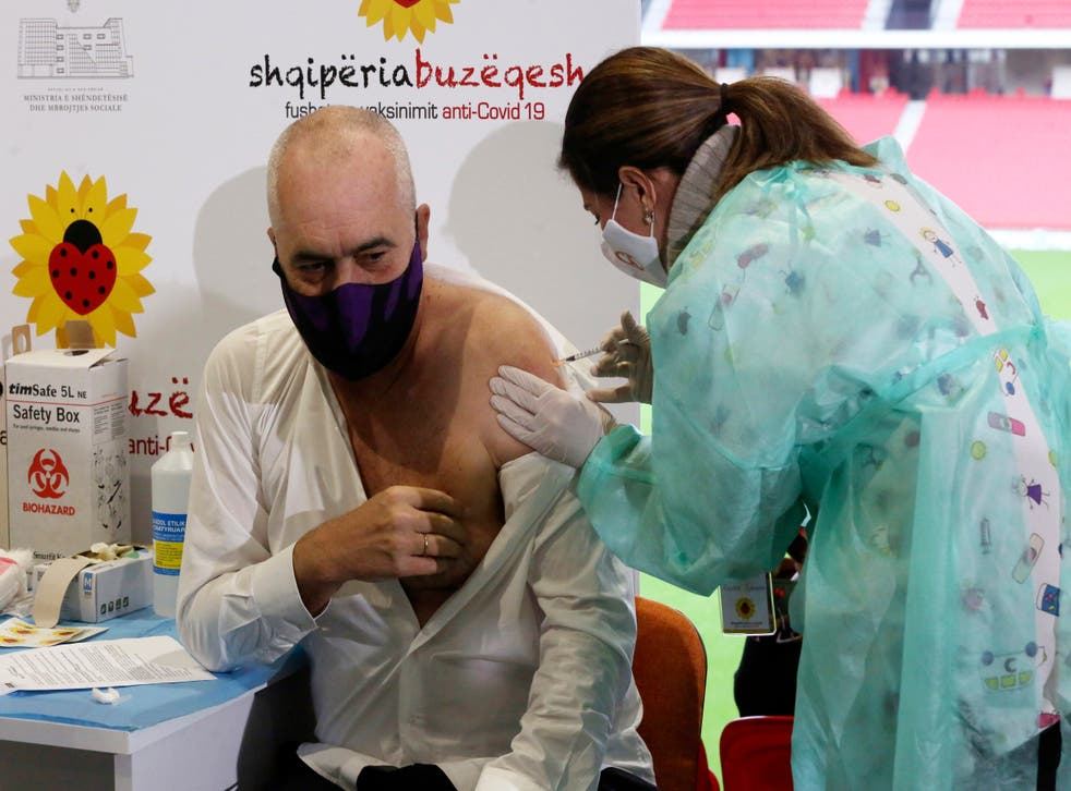 Virus Outbreak Albania