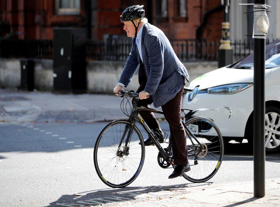 <p>Boris Johnson is a big cycling fan </p>