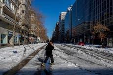 España sufre las temperaturas más bajas en 20 años