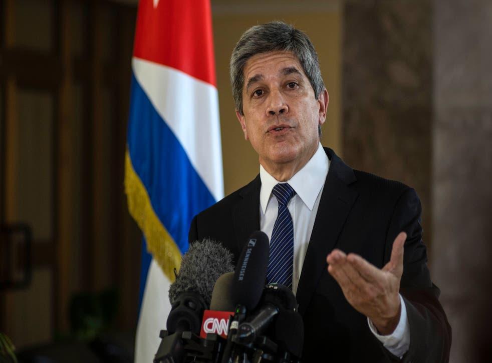<p>Carlos Fernández de Cossío, director general del departamento de Estados Unidos en la Cancillería de Cuba.</p>