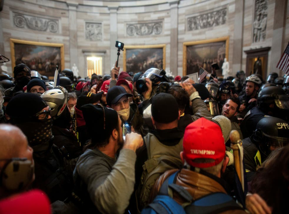 Pro-Trump protesters storm the Capitol Building, 6 January