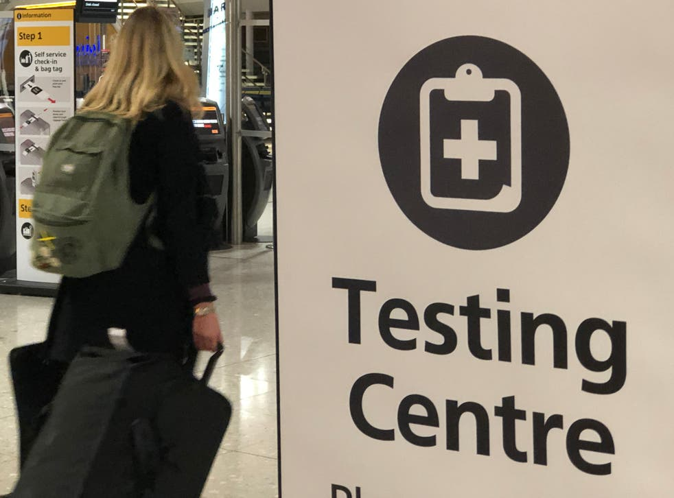 Testing times: the testing centre at Heathrow airport Terminal 2