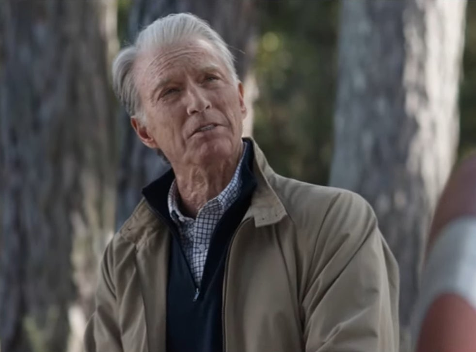 Chris Evans at the end of Avengers: Endgame, wearing old age make-up