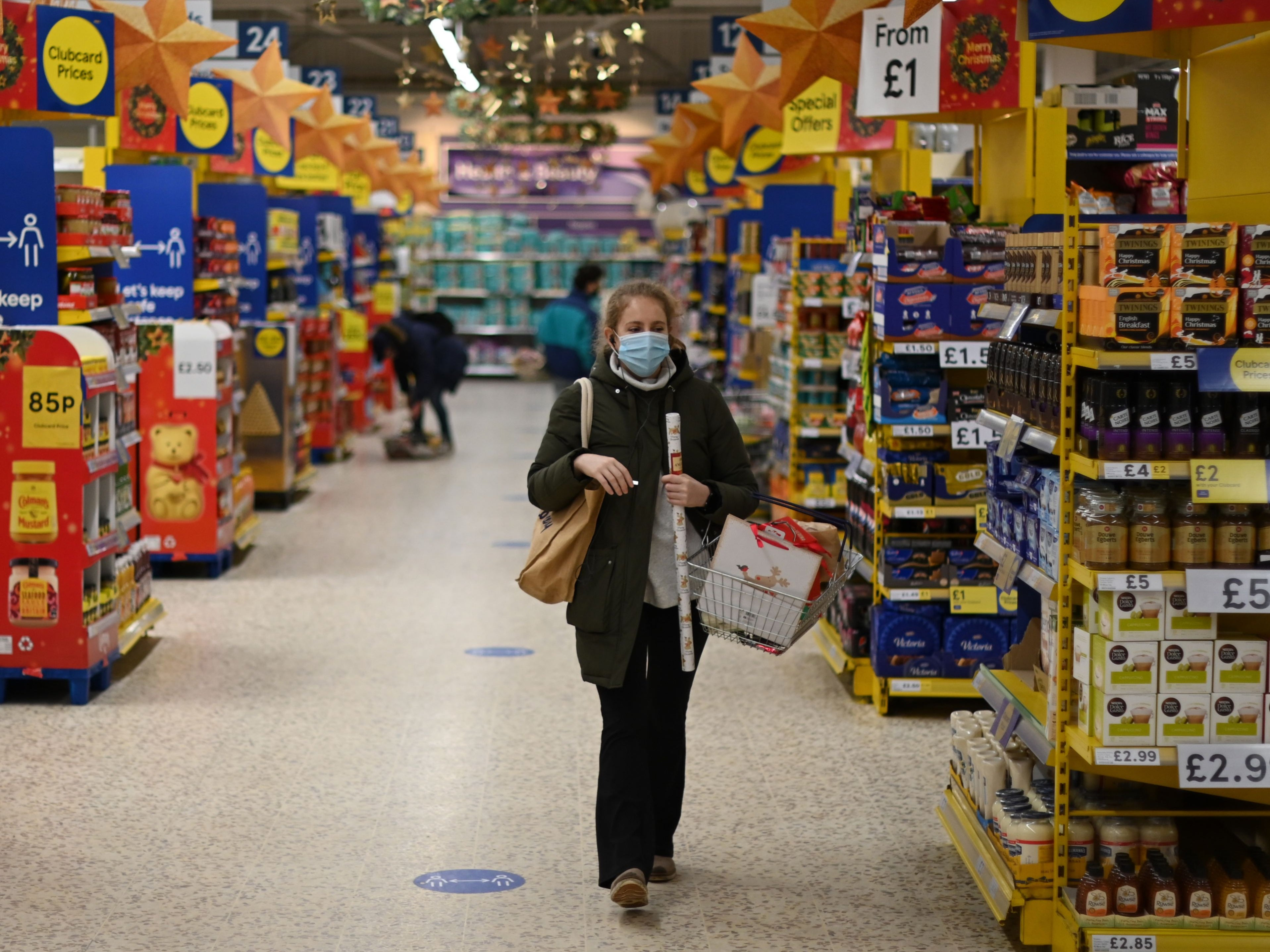 Wearing a mask in the supermarket helps me hide my unhealthy habits