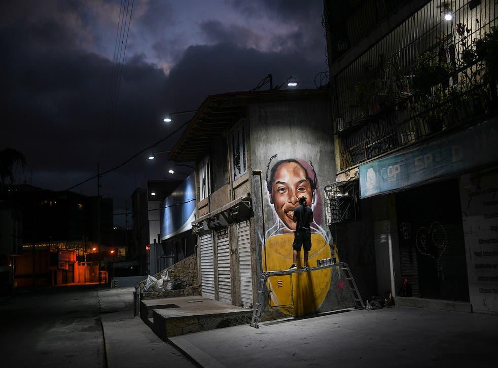 APTOPIX Venezuela Street Artist