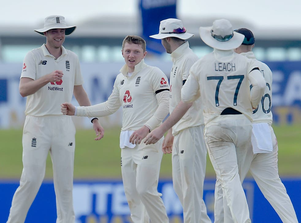 Dom Bess celebrates his five wicket haul