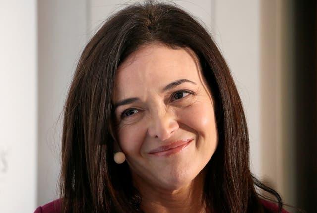 <p>Facebook Chief Operating Officer Sandberg </p>