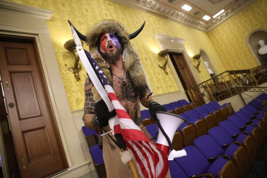 Fur-wearing 'QAnon Shaman' appeals to Trump personally for pardon over Capitol riots