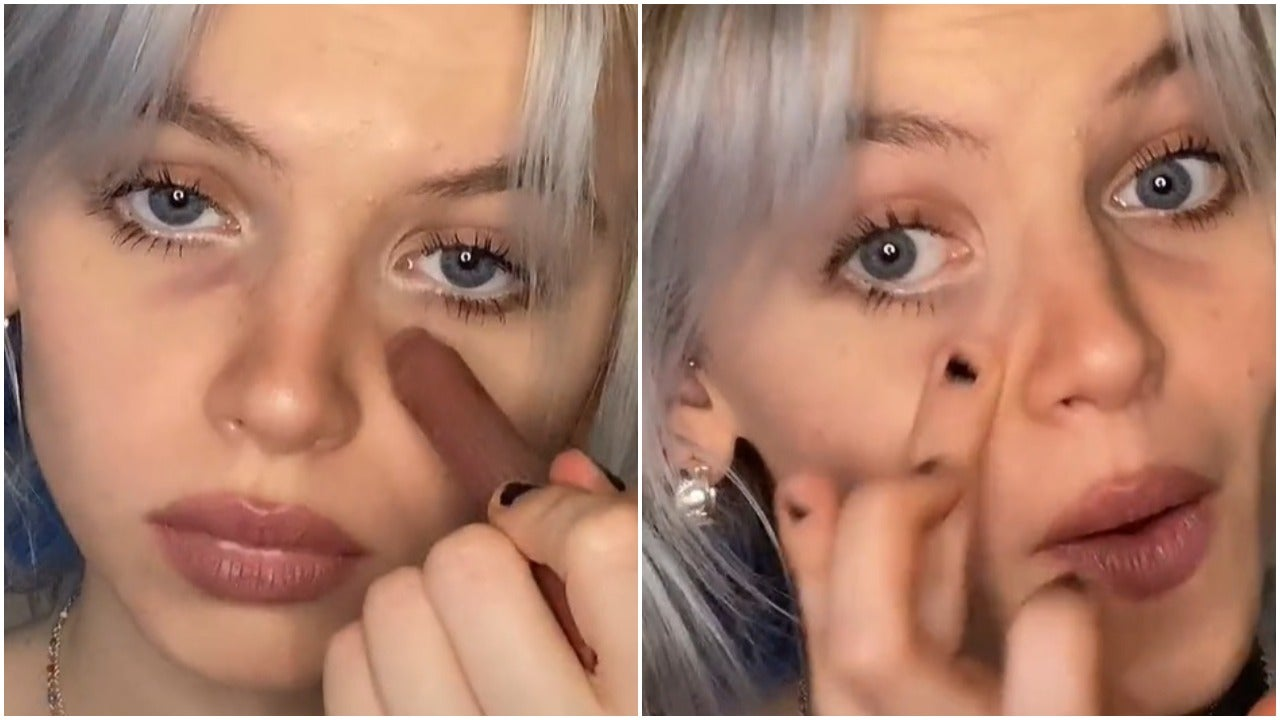 Are people on TikTok really drawing on eye bags as a beauty trend? | The  Independent