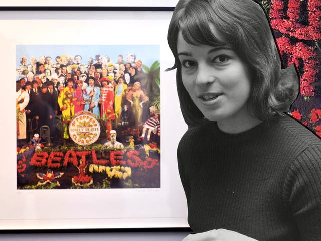 <p>The American artist created the 1967 album cover with her then husband Peter Blake</p>