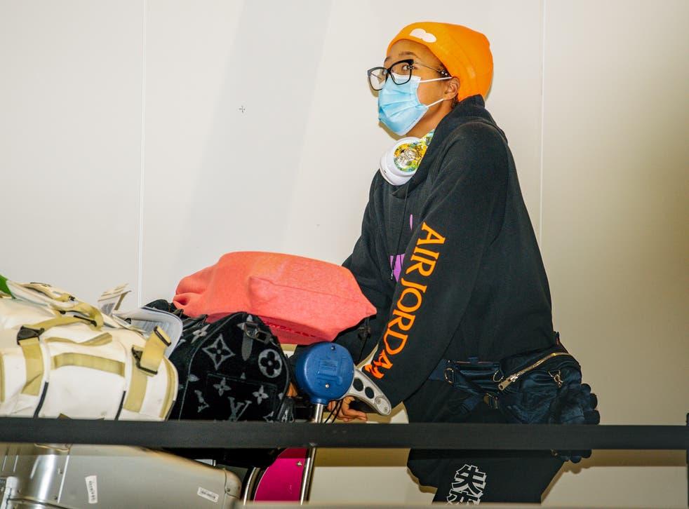 <p>Naomi Osaka fue de las primeras jugadoras en arribar a Australia</p>