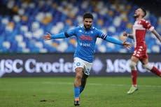Serie A: Napoli golea 6-0 a la Fiorentina y es tercero de la tabla